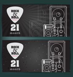 Music banner background vector
