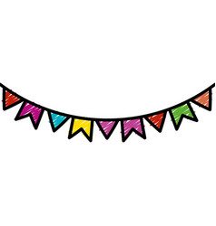 Party garlands isolated icon vector