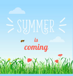 Poster of summer is coming vector