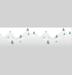 seamless horizontal background with fur-tree vector image