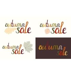 Set of autumn sale inscription vector