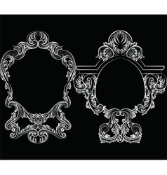 Set of baroque vintage decoration frames vector