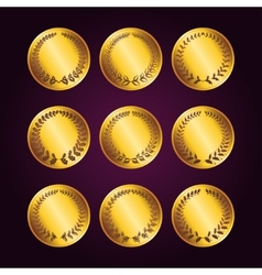 Set of luxury gold labels vector image