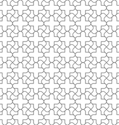 Simple geometric seamless pattern in oriental vector image