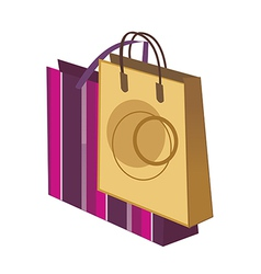 Two shopping bags vector