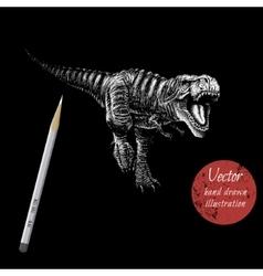 tyranosaur rex attack vector image