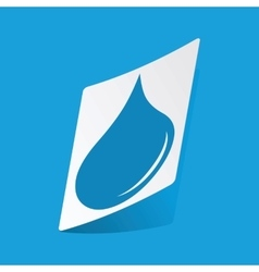 Water drop sticker vector