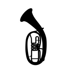 widely menzurny brass instrument tube vector image vector image