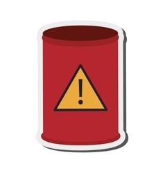 Toxic waste barrel icon vector