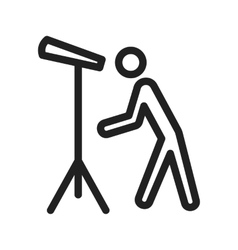 Man looking through telescope vector