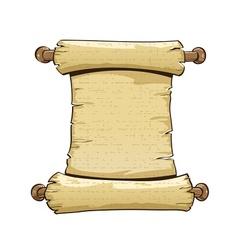 Vintage paper scroll vector