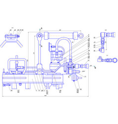 Engineering drawing of components vector