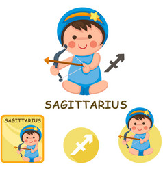 Sagittarius collection zodiac signs vector