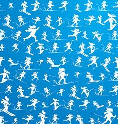Winter extreme sport pattern vector