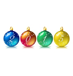 Christmas ball 2015 vector image