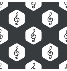 Black hexagon music pattern vector