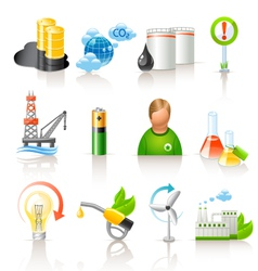 ecology and fuel icons vector image