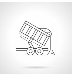 Crop unloading flat thin line icon vector