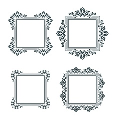 Vintage frame set two vector