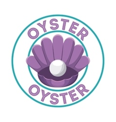 Purple oyster icon sea life design vector