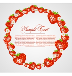 abstract frame with strawberry fruits vector image vector image
