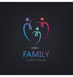 abstract stylized family of 3 team lead vector image vector image