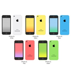 Apple iphone 5c family vector