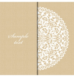 beige background with napkin vector image