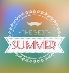 Best Summer Text Card vector image