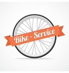Bike service card vector