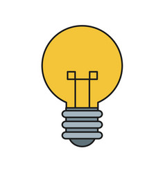 Bulb light idea mind creativity icon vector
