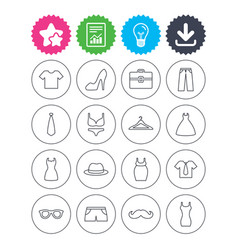 Clothes and accessories underwear maternity vector