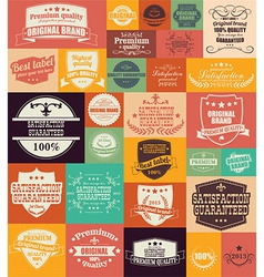 Collection of vintage retro labels badges stamps vector