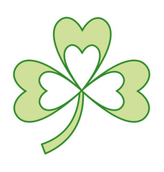 green clover three leaves luck symbol vector image
