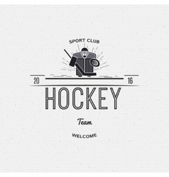 Hockey team insignia and labels for any use vector
