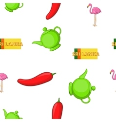 Holiday in Sri Lanka pattern cartoon style vector image vector image
