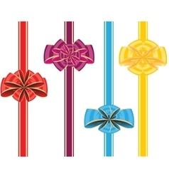 Holiday ribbon and bow vector image