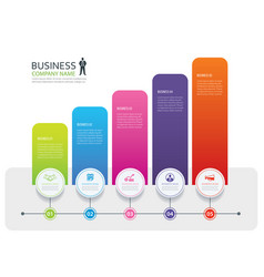 infographic 5 tab design and marketing template vector image vector image