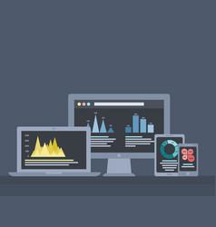 infographics technique vector image vector image