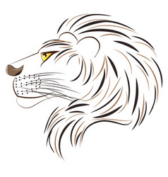 Male lion head vector