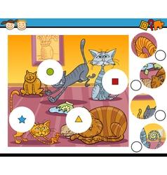 Match the pieces game cartoon vector