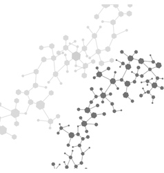 Molecule and communication with connected dots and vector image