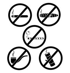 No smoking and tobacco vector