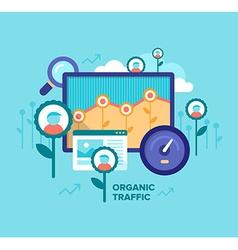 Organic Traffic SEO Concept vector image