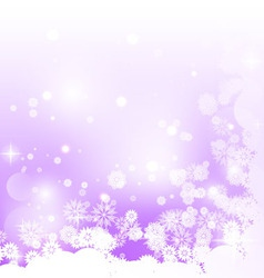 Purple background with snowflakes vector image vector image