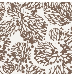 seamless pattern of leaves vector image vector image