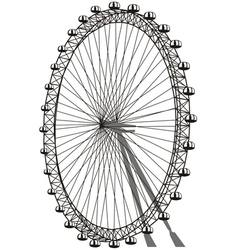 Silhouette of ferris wheel vector