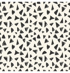 Simple seamless pattern of triangles vector image