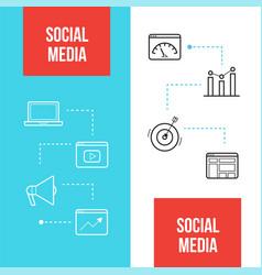 Social media marketing web banners templates vector