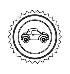 Star emblem sport car side icon vector